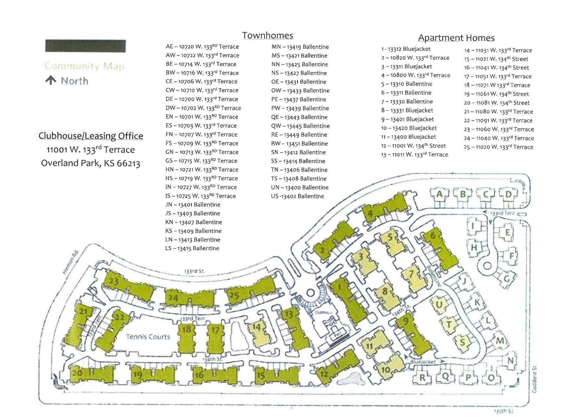 Bradford Pointe Property Map